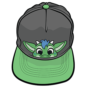 PeekABU Hats Dragon