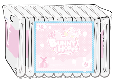 ABUniverse BunnyHopps 4-Tape Diapers